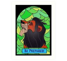 The rightful king? - stained glass villains Art Print