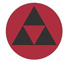 Zelda Black Triforce - Smash Photographic Print