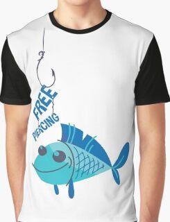 Free Piercing: Fisherman's Pun Graphic T-Shirt
