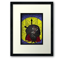 Steal the crown jewels - stained glass villains Framed Print