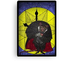 Steal the crown jewels - stained glass villains Canvas Print