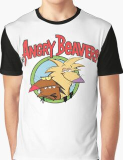 fear Angry Beavers Graphic T-Shirt