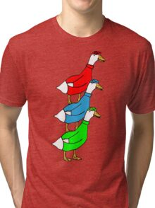Another Quality Duck Stack- without words! Tri-blend T-Shirt