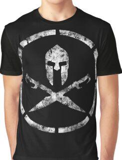 Spartan Emblem (White) Graphic T-Shirt