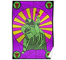 Sackcloth and bugs - stained glass villains Poster