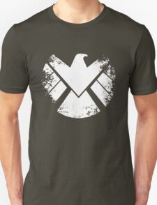 SHIELD Badge - White Unisex T-Shirt