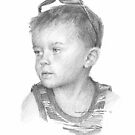 boy w/sunglasses drawing by Mike Theuer