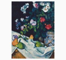 1890 - Paul Cezanne - Still Life with Flowers and Fruit Kids Tee
