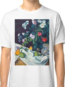 1890 - Paul Cezanne - Still Life with Flowers and Fruit Classic T-Shirt