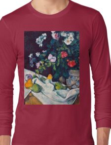 1890 - Paul Cezanne - Still Life with Flowers and Fruit Long Sleeve T-Shirt
