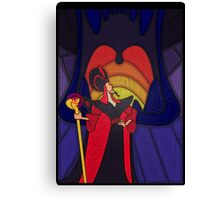 The most trusted advisor - stained glass villains Canvas Print
