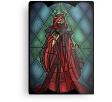 King of the undead - Stained Glass Villains Metal Print