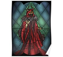 King of the undead - Stained Glass Villains Poster