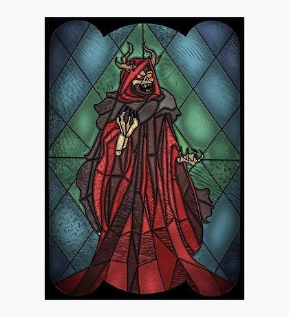 King of the undead - Stained Glass Villains Photographic Print