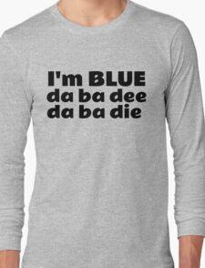 Blue Techno Party Music Dance Long Sleeve T-Shirt