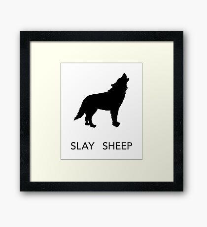 SLAY SHEEP Framed Print