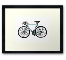 Drawing of a bike (fixed gear) Framed Print