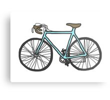 Drawing of a bike (fixed gear) Metal Print