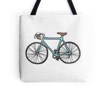 Drawing of a bike (fixed gear) Tote Bag