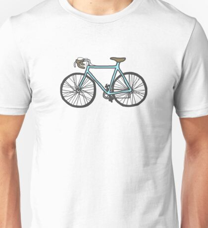 Drawing of a bike (fixed gear) Unisex T-Shirt