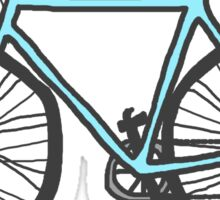 Drawing of a bike (fixed gear) Sticker