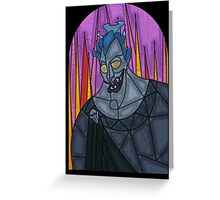 Underworld God - stained glass villains Greeting Card
