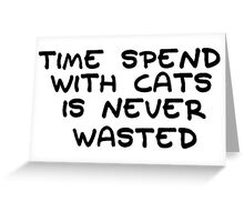 I Love Cats Animals Funny Text Greeting Card