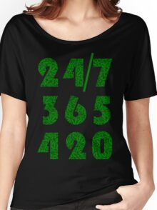 Smoke Weed Everyday 420 Weed Leaf Pattern Women's Relaxed Fit T-Shirt