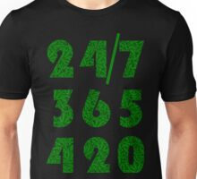 Smoke Weed Everyday 420 Weed Leaf Pattern Unisex T-Shirt