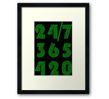 Smoke Weed Everyday 420 Weed Leaf Pattern Framed Print