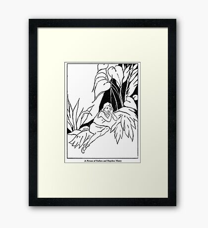 A Picture of Forlorn and Hopeless Misery Framed Print