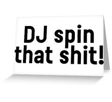 DJ Party Music Dance Text Greeting Card