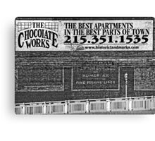 The Chocolate Works Canvas Print