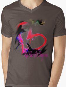 Dangerous Heart Mens V-Neck T-Shirt