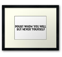 Motivational Inspirational Quotes Saying Framed Print