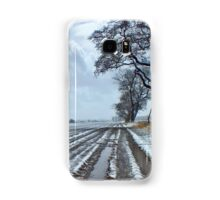 Light Snow covering Winter Farmland Samsung Galaxy Case/Skin