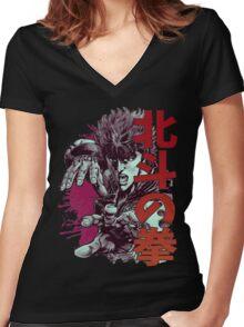 Kenshiro 02 Women's Fitted V-Neck T-Shirt