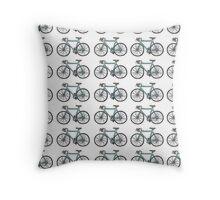 Drawing of a bike (fixed gear) - wallpaper design Throw Pillow