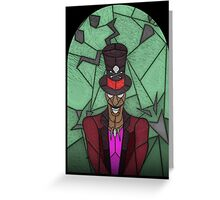 Voodoo Doctor - stained glass villains Greeting Card