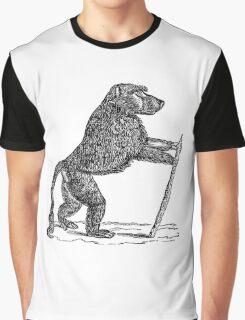 Vintage Mandrill Baboon Monkey Illustration Retro 1800s Black and White Monkeys Animal Image Graphic T-Shirt
