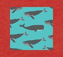 Blue and sperm  whales. Tri-blend T-Shirt
