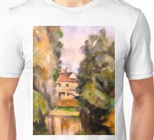 1890 - Paul Cezanne -Country House by a River Unisex T-Shirt