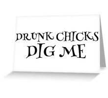 Party Drunk Chicks Funny Text T-Shirts Greeting Card