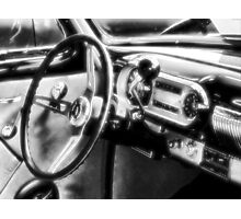 """""""Inside a Classic Chevy""""... prints and products Photographic Print"""