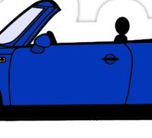 Mini, Cooper, Convertible, BMW, Motor, Car, Soft Top, BLUE Sticker