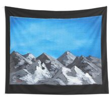 Acrylic mountains Wall Tapestry
