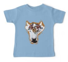 Hand drawn cow lady. Baby Tee