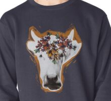 Hand drawn cow lady. Pullover
