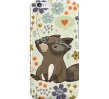 Funny little raccoon love you iPhone Case/Skin