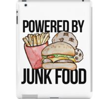 Powered by Junk food iPad Case/Skin